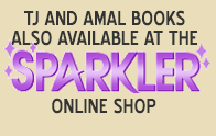 TJ and Amal books and lots of other comics available at Sparkler Monthly